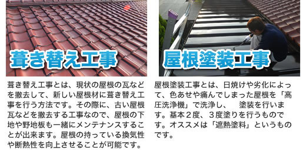 葺き替え工事 屋根塗装工事